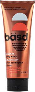 Basd Natural Body Wash, Refreshing Citrus | Organic & Moisturizing Ingredients, 240mL Tube