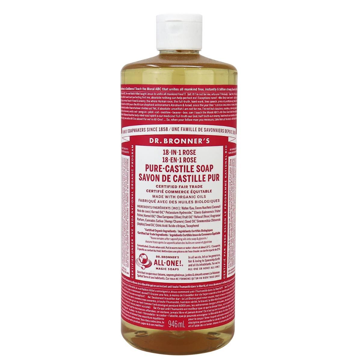 Dr. Bronner Organic Castile Soap Rose